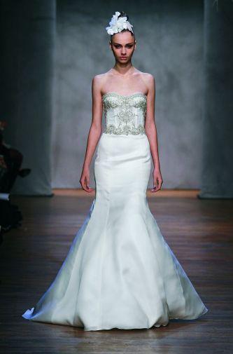 Monique lhuillier wedding dress style tulip onewed for Tulip wedding dress style